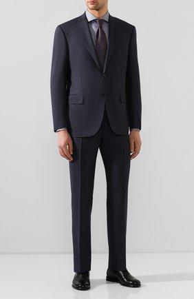 Мужская хлопковая сорочка BOSS темно-синего цвета, арт. 50428373 | Фото 2
