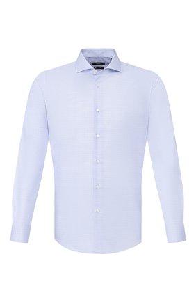 Мужская хлопковая сорочка BOSS голубого цвета, арт. 50428319 | Фото 1