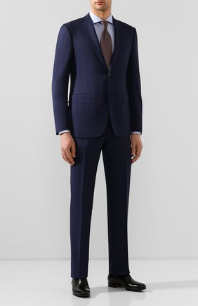 Мужская хлопковая сорочка BOSS голубого цвета, арт. 50428319 | Фото 2