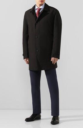 Мужская хлопковая сорочка BOSS голубого цвета, арт. 50427960 | Фото 2