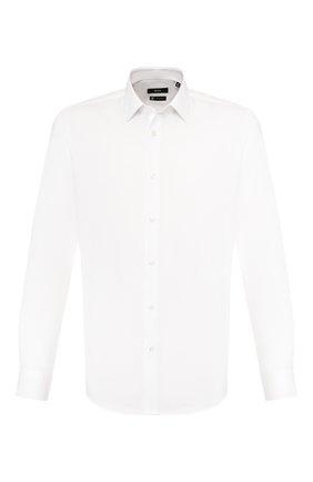 Мужская хлопковая сорочка BOSS белого цвета, арт. 50428309 | Фото 1