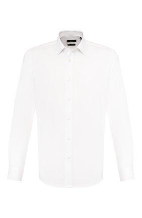 Мужская хлопковая сорочка BOSS белого цвета, арт. 50427491 | Фото 1
