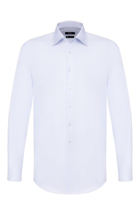 Мужская хлопковая сорочка BOSS голубого цвета, арт. 50428350 | Фото 1