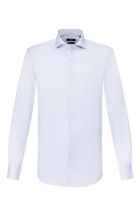 Мужская хлопковая сорочка BOSS голубого цвета, арт. 50428346 | Фото 1