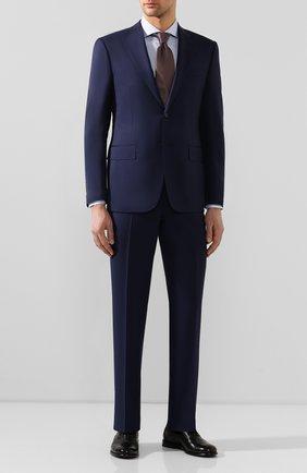 Мужская хлопковая сорочка BOSS голубого цвета, арт. 50428346 | Фото 2