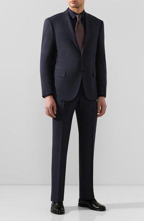 Мужская хлопковая сорочка BOSS темно-синего цвета, арт. 50428470 | Фото 2