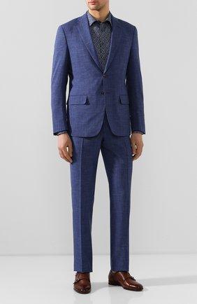 Мужская хлопковая сорочка ETON темно-синего цвета, арт. 1000 01109 | Фото 2
