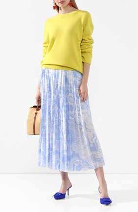 Женская юбка-миди ESCADA голубого цвета, арт. 5033284 | Фото 2