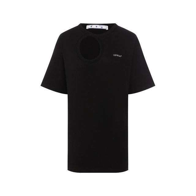 Хлопковая футболка Off-White