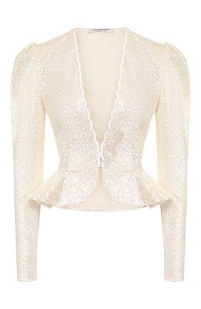 Женская блузка с пайетками PHILOSOPHY DI LORENZO SERAFINI кремвого цвета, арт. A0238/2144 | Фото 1