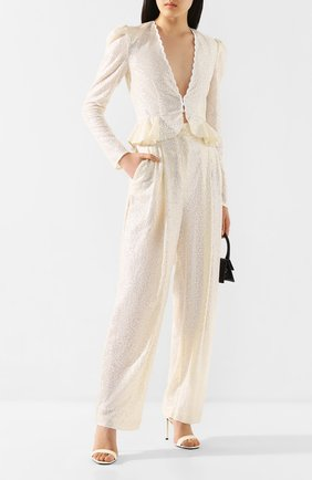 Женская блузка с пайетками PHILOSOPHY DI LORENZO SERAFINI кремвого цвета, арт. A0238/2144 | Фото 2