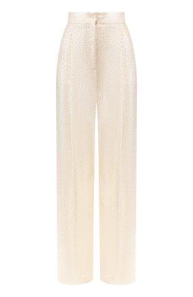 Женские брюки с пайетками PHILOSOPHY DI LORENZO SERAFINI кремвого цвета, арт. A0324/2144 | Фото 1