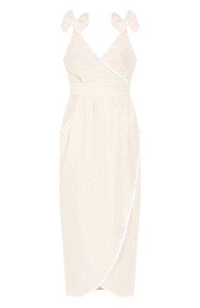 Женское платье с пайетками PHILOSOPHY DI LORENZO SERAFINI кремвого цвета, арт. A0420/2144 | Фото 1