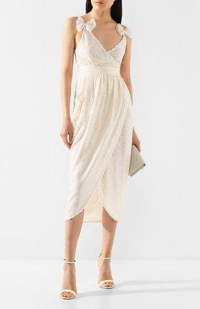 Женское платье с пайетками PHILOSOPHY DI LORENZO SERAFINI кремвого цвета, арт. A0420/2144 | Фото 2