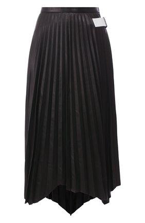 Женская кожаная юбка HELMUT LANG черного цвета, арт. K01HW307 | Фото 1