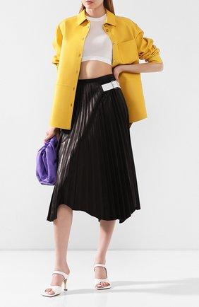 Женская кожаная юбка HELMUT LANG черного цвета, арт. K01HW307 | Фото 2
