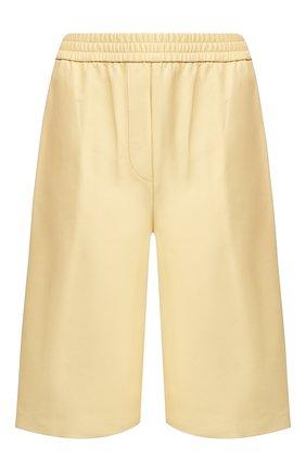 Женские кожаные шорты JOSEPH желтого цвета, арт. JF004674 | Фото 1