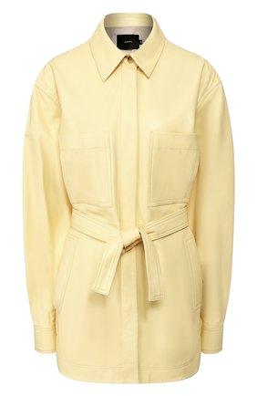 Женская кожаная рубашка JOSEPH желтого цвета, арт. JF004677 | Фото 1