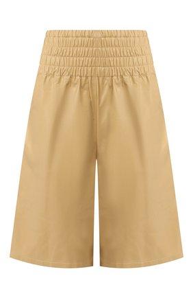 Женские кожаные шорты BOTTEGA VENETA светло-бежевого цвета, арт. 619210/VKLC0 | Фото 1