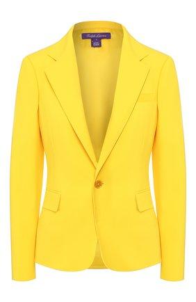 Женский шерстяной жакет RALPH LAUREN желтого цвета, арт. 290803807   Фото 1