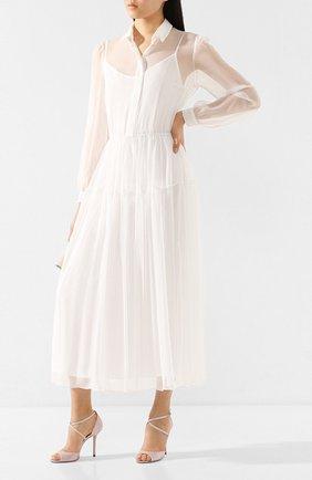 Женское шелковое платье TEREKHOV GIRL белого цвета, арт. 2DE049/1091.101/S20 | Фото 2