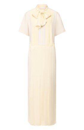 Женское платье-макси CHLOÉ кремвого цвета, арт. CHC20UR023002 | Фото 1