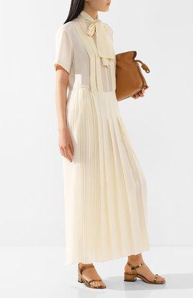 Женское платье-макси CHLOÉ кремвого цвета, арт. CHC20UR023002 | Фото 2