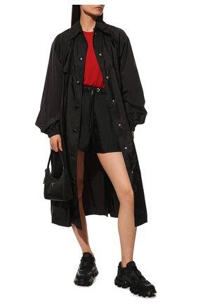 Женские текстильные кроссовки PRADA черного цвета, арт. 1E819L-3KR2-F0002-50 | Фото 2