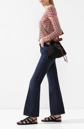 Женские кожаные сандалии PRADA черного цвета, арт. 1X186M-27-F0002-A015 | Фото 2