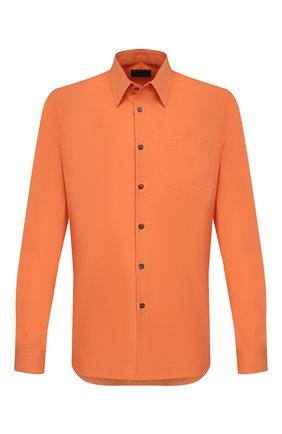 Мужская хлопковая рубашка PRADA оранжевого цвета, арт. UCN160-1UP4-F0075-181 | Фото 1