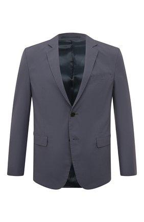 Мужской хлопковый пиджак PRADA синего цвета, арт. SD080-1BJ2-F0AFC-191   Фото 1