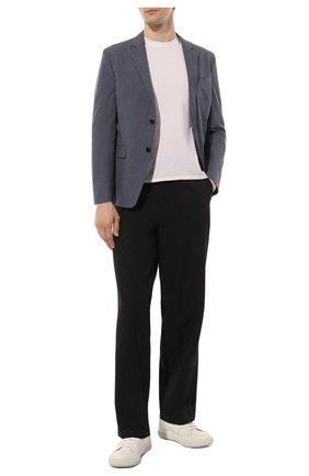 Мужской хлопковый пиджак PRADA синего цвета, арт. SD080-1BJ2-F0AFC-191   Фото 2
