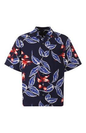 Мужская хлопковая рубашка PRADA синего цвета, арт. UCS339-1WKD-F0008-201   Фото 1