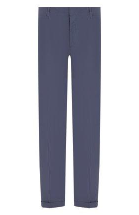 Мужские хлопковые брюки PRADA синего цвета, арт. SPD91-1BJ2-F0AFC-172 | Фото 1