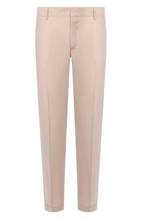 Мужской хлопковые брюки PRADA бежевого цвета, арт. SPD91-1BJ2-F0224-172   Фото 1