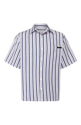 Мужская хлопковая рубашка PRADA синего цвета, арт. UCS339-1VX8-F0124-201   Фото 1