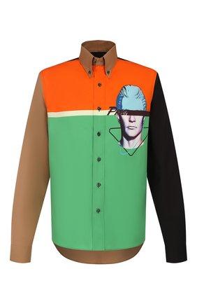 Мужская хлопковая рубашка PRADA разноцветного цвета, арт. UCN285-1WOU-F0K8E-201 | Фото 1