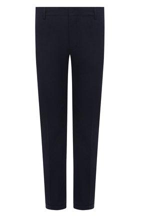 Мужской хлопковые брюки PRADA синего цвета, арт. SPD91-1BJ2-F0ABM-172   Фото 1