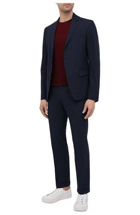 Мужские хлопковые брюки PRADA темно-синего цвета, арт. SPD91-1BJ2-F0ABM-172 | Фото 2