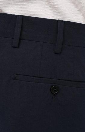 Мужские хлопковые брюки PRADA темно-синего цвета, арт. SPD91-1BJ2-F0ABM-172 | Фото 5 (Длина (брюки, джинсы): Стандартные; Случай: Повседневный; Материал внешний: Хлопок; Стили: Минимализм)