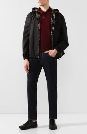 Мужское хлопковое поло PRADA бордового цвета, арт. UJN444-XGS-F0403-181 | Фото 2