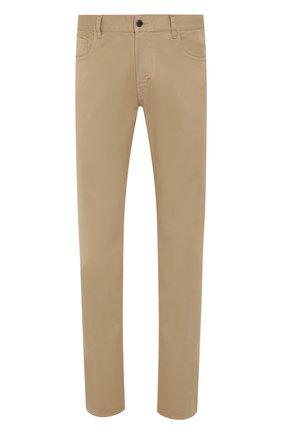 Мужской хлопковые брюки PRADA бежевого цвета, арт. GEP178-1P8S-F0BAM-192   Фото 1