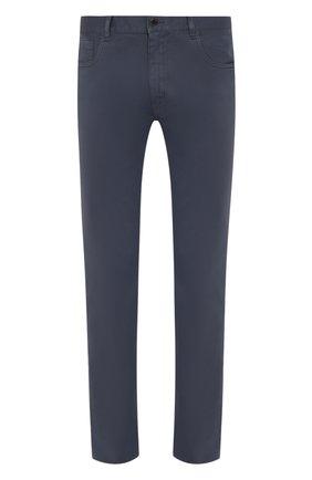 Мужской хлопковые брюки PRADA синего цвета, арт. GEP178-1P8S-F0ZNE-192   Фото 1