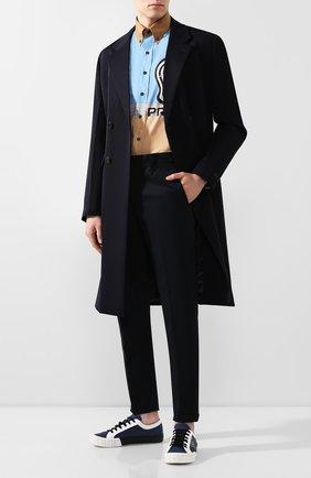 Мужская хлопковая рубашка PRADA разноцветного цвета, арт. UCN285-1WOV-F0T8S-201   Фото 2
