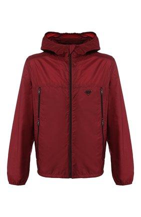 Мужская куртка PRADA красного цвета, арт. SGB306-Q04-F0ANJ-201   Фото 1