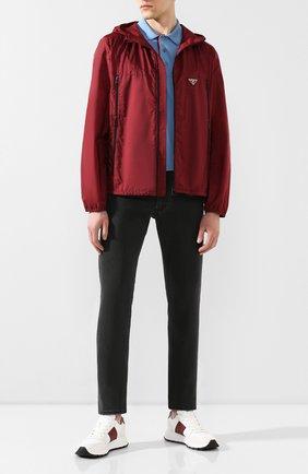 Мужская куртка PRADA красного цвета, арт. SGB306-Q04-F0ANJ-201   Фото 2
