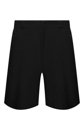 Мужские шорты PRADA черного цвета, арт. SPG32-I18-F0002-182 | Фото 1 (Материал внешний: Синтетический материал; Длина Шорты М: Ниже колена; Принт: Без принта; Мужское Кросс-КТ: Шорты-одежда; Стили: Кэжуэл)