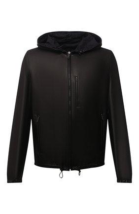 Мужская двусторонняя куртка PRADA черного цвета, арт. UPW124-38-F0002 | Фото 1 (Рукава: Длинные; Длина (верхняя одежда): Короткие; Мужское Кросс-КТ: Кожа и замша, Верхняя одежда, Куртка-верхняя одежда; Кросс-КТ: Куртка)
