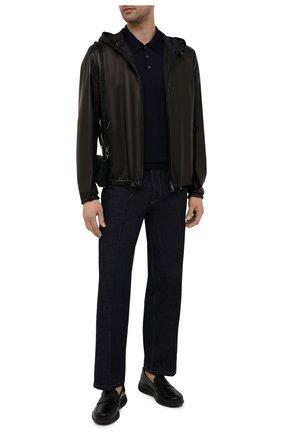 Мужская двусторонняя куртка PRADA черного цвета, арт. UPW124-38-F0002 | Фото 2 (Рукава: Длинные; Длина (верхняя одежда): Короткие; Мужское Кросс-КТ: Кожа и замша, Верхняя одежда, Куртка-верхняя одежда; Кросс-КТ: Куртка)