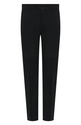 Мужские хлопковые брюки PRADA синего цвета, арт. SPE12-1GQS-F0008-172 | Фото 1 (Материал внешний: Хлопок; Длина (брюки, джинсы): Стандартные; Случай: Повседневный; Стили: Минимализм)